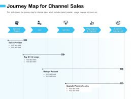 Journey Map For Channel Sales M2930 Ppt Powerpoint Presentation File Good