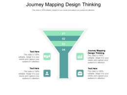 Journey Mapping Design Thinking Ppt Powerpoint Presentation Gallery Cpb