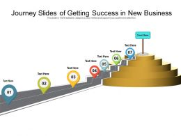 Journey Slides Of Getting Success In New Business