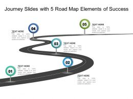 Journey Slides With 5 Road Map Elements Of Success