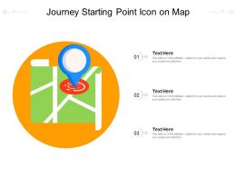 Journey Starting Point Icon On Map