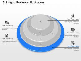jp 5 Stages Business Illustration Powerpoint Template