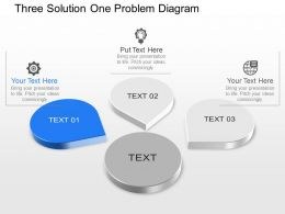 Jp Three Solution One Problem Diagram Powerpoint Template