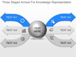 jp Three Staged Arrows For Knowledge Representation Powerpoint Template