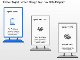 jp Three Staged Screen Design Text Box Data Diagram Powerpoint Template