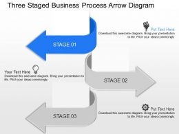Jq Three Staged Business Process Arrow Diagram Powerpoint Template