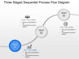 jq Three Staged Sequential Process Flow Diagram Powerpoint Template