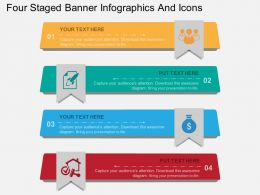 jr Four Staged Banner Infographics And Icons Flat Powerpoint Design