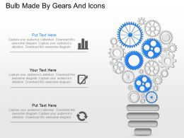 js Bulb Made By Gears And Icons Powerpoint Template