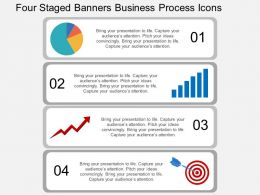 js Four Staged Banners Business Process Icons Flat Powerpoint Design