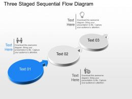 Js Three Staged Sequential Flow Diagram Powerpoint Template