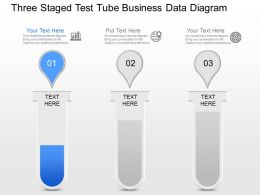 js Three Staged Test Tube Business Data Diagram Powerpoint Template