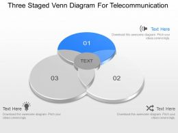 jt Three Staged Venn Diagram For Telecommunication Powerpoint Template