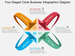 ju Four Staged Circle Business Infographics Diagram Flat Powerpoint Design