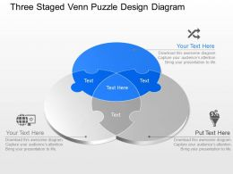 ju Three Staged Venn Puzzle Design Diagram  Powerpoint Template