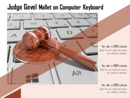 Judge Gavel Mallet On Computer Keyboard