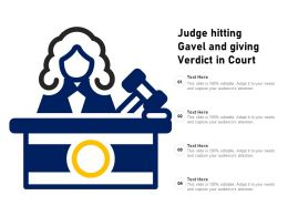 Judge Hitting Gavel And Giving Verdict In Court