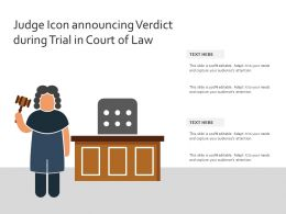 Judge Icon Announcing Verdict During Trial In Court Of Law
