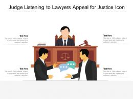 Judge Listening To Lawyers Appeal For Justice Icon