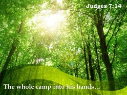 Judges 7 14 The Whole Camp Into His Hands Powerpoint Church Sermon