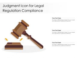 Judgment Icon For Legal Regulation Compliance
