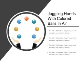 Juggling Hands With Colored Balls In Air