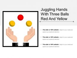 Juggling Hands With Three Balls Red And Yellow