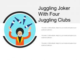 Juggling Joker With Four Juggling Clubs