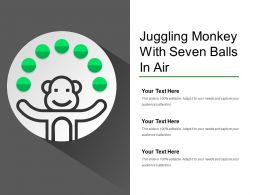 Juggling Monkey With Seven Balls In Air