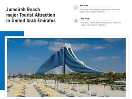 Jumeirah Beach Major Tourist Attraction In United Arab Emirates