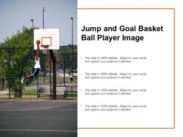 Jump And Goal Basket Ball Player Image