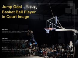 Jump Goal Basket Ball Player In Court Image