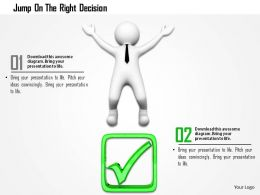 Jump On The Right Decision Ppt Graphics Icons