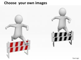 Jump Over Obstacles To Reach Success Ppt Graphics Icons Powerpoint
