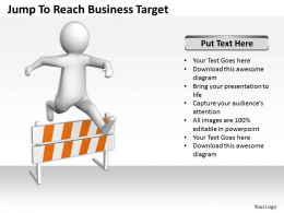 Jump To Reach Business Target Ppt Graphics Icons Powerpoint
