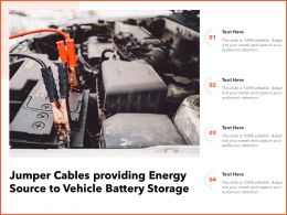 Jumper Cables Providing Energy Source To Vehicle Battery Storage