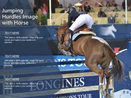 Jumping Hurdles Image With Horse