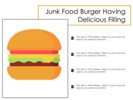 Junk Food Burger Having Delicious Filling