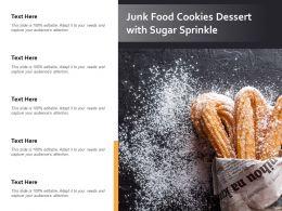 Junk Food Cookies Dessert With Sugar Sprinkle