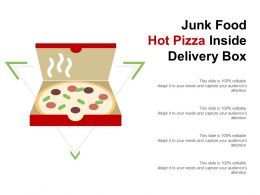 Junk Food Hot Pizza Inside Delivery Box