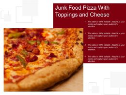 Junk Food Pizza With Toppings And Cheese
