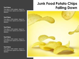 Junk Food Potato Chips Falling Down