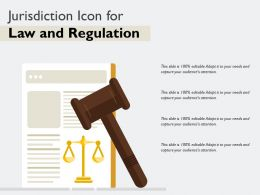 Jurisdiction Icon For Law And Regulation