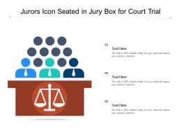 Jurors Icon Seated In Jury Box For Court Trial