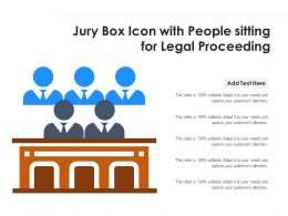 Jury Box Icon With People Sitting For Legal Proceeding
