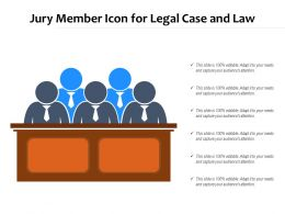 Jury Member Icon For Legal Case And Law