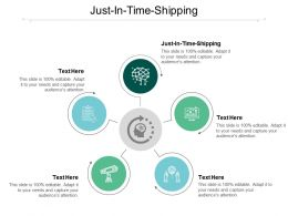 Just In Time Shipping Ppt Powerpoint Presentation Styles Deck Cpb