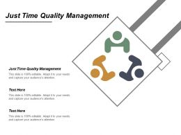 Just Time Quality Management Ppt Powerpoint Presentation Infographic Template Model Cpb