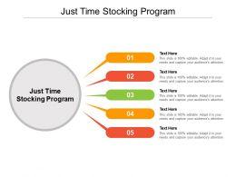 Just Time Stocking Program Ppt Powerpoint Presentation Design Cpb
