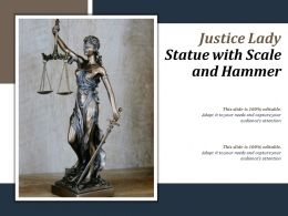 Justice Lady Statue With Scale And Hammer